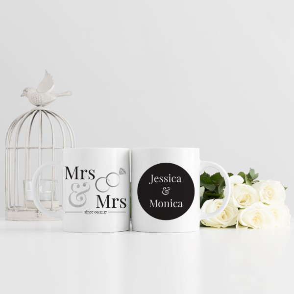 Picture of Mrs & Mrs Wedding Personalised Mug