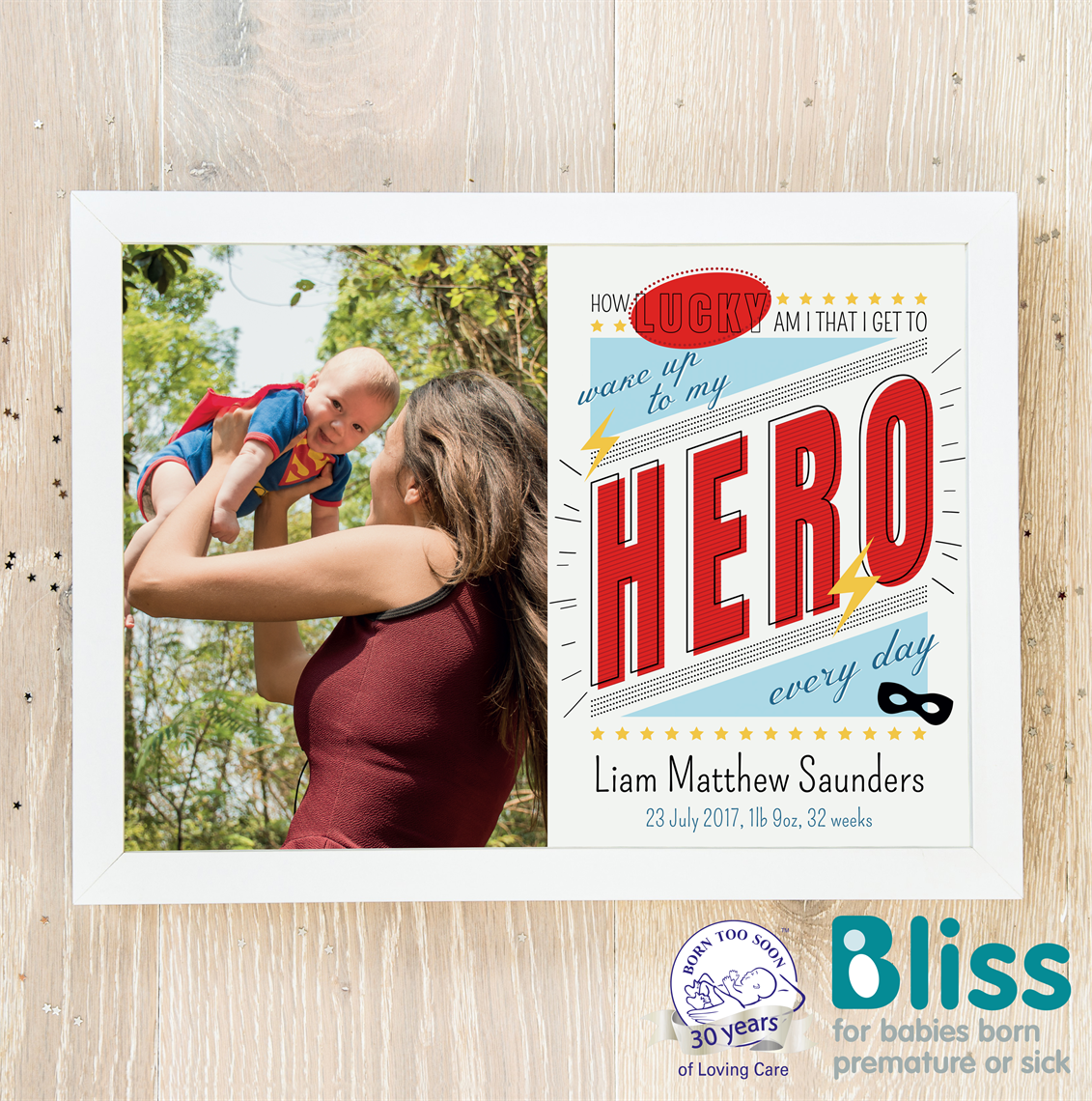 Picture of Hero baby personalised poster
