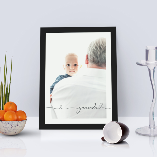 Picture of WOW A4 Grandad script personalised poster