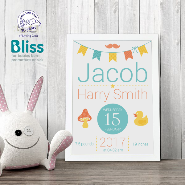 Picture of Baby Bunting personalised poster