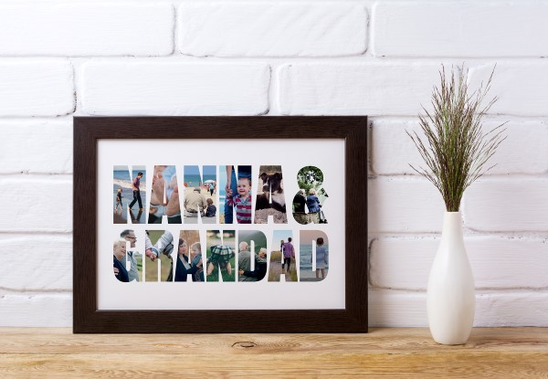 Picture of Nanna & Grandad Photo personalised poster