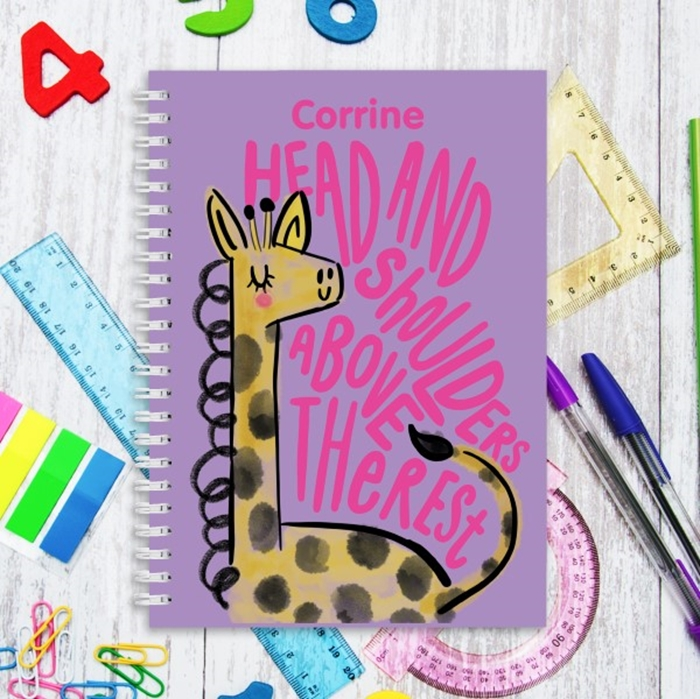 Picture of A5 Giraffe hardcover spiral notebook