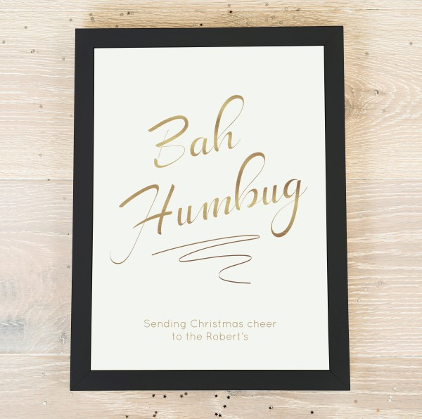 Picture of A4 Bah Humbug personalised poster