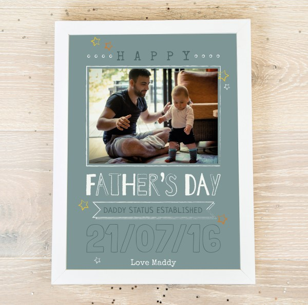 Picture of Happy Father's Day personalised poster