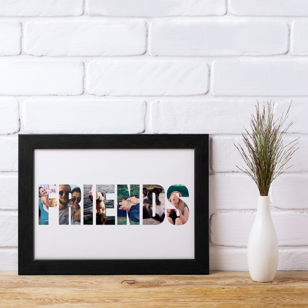 Picture of A4 Friends Photos personalised poster