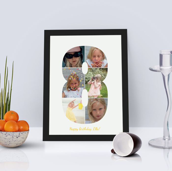 Picture of 8 year personalised poster