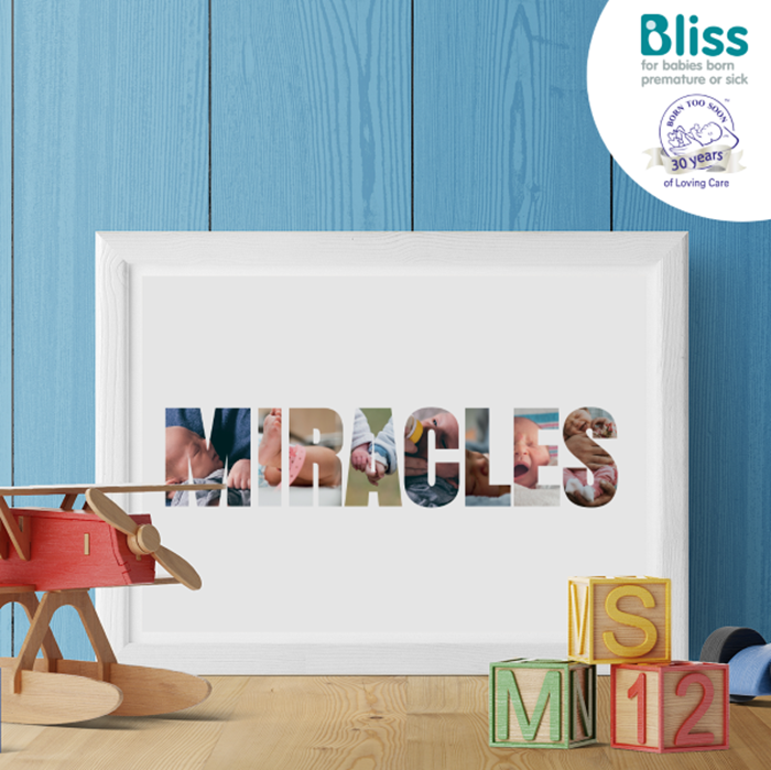 Picture of Miracles Photo personalised poster