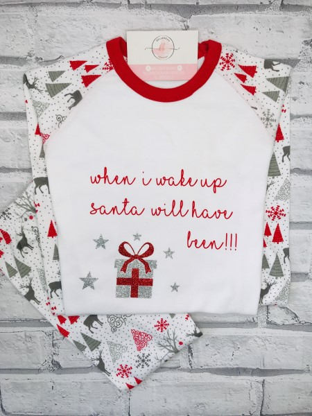 Picture of Santa's coming Children's personalised PJs