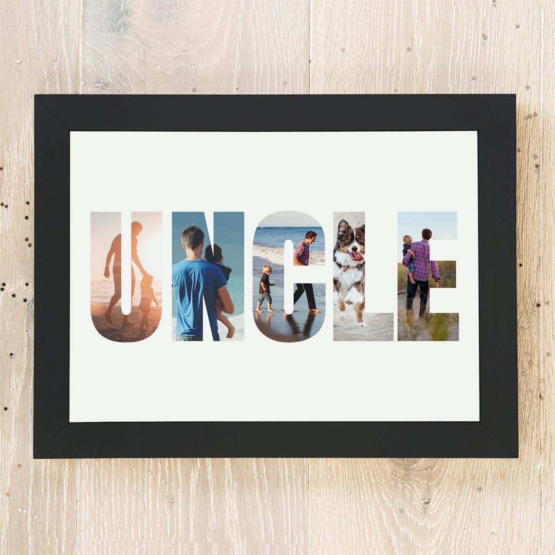 Picture of A3 Uncle Photo personalised poster