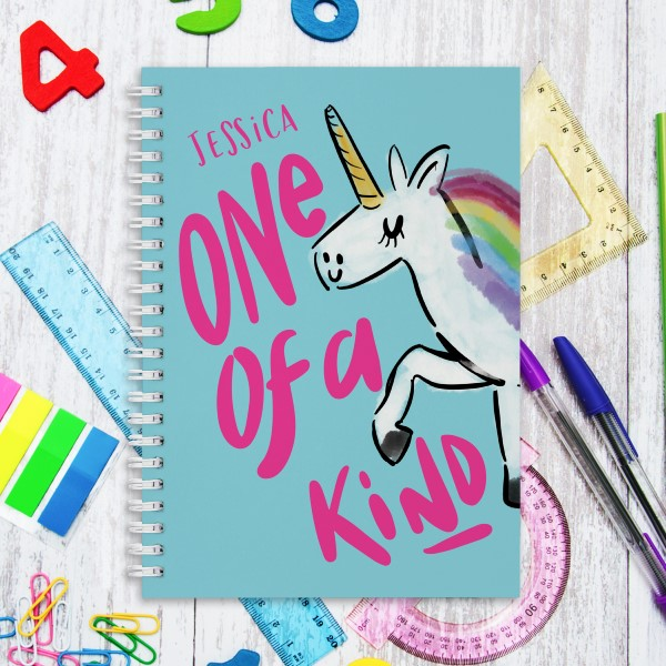 Picture of A5 Unicorn hardcover spiral notebook